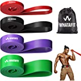 Whatafit Pull Up Assist Bands Resistance Stretch Band for Men and Women, Assistance Band for Exercise, Chin Ups, Powerlifting