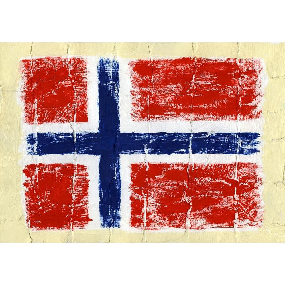 Pitaara Box Flag of Norway Norway of Unframed Canvas Painting 56.9 x 40inch 4f6b08