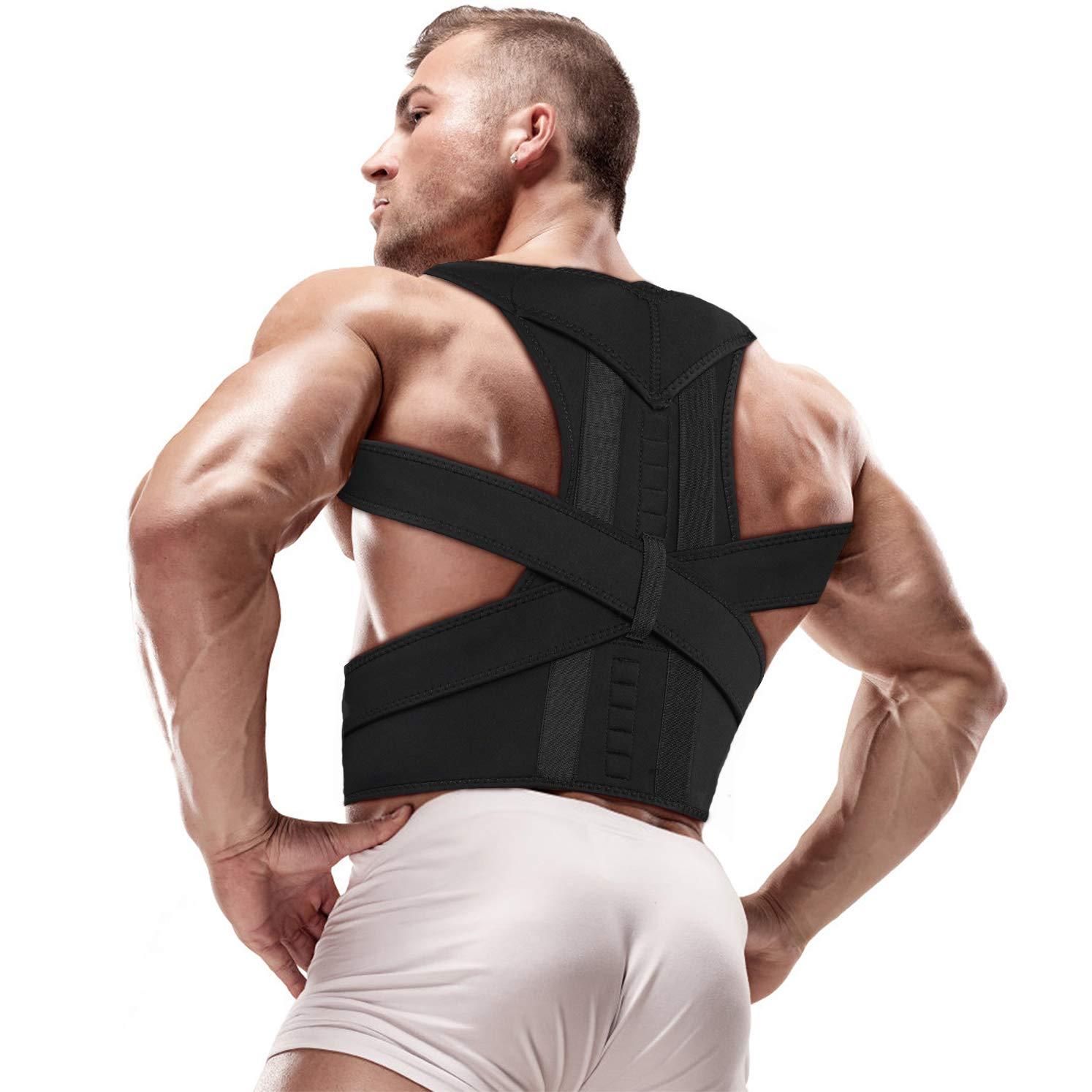 Posture Corrector, Magnetic Back Brace - Posture Corrector for Men - Back Straightener Posture Corrector - Back Support - Size L (33'' - 37'') Waist by Aptoco