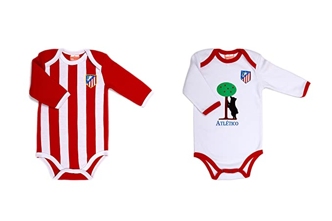 ATLÉTICO DE MADRID - Pack 2 Bodies, Color Blanco Y Rojo, Talla 24 Meses: Amazon.es: Ropa y accesorios