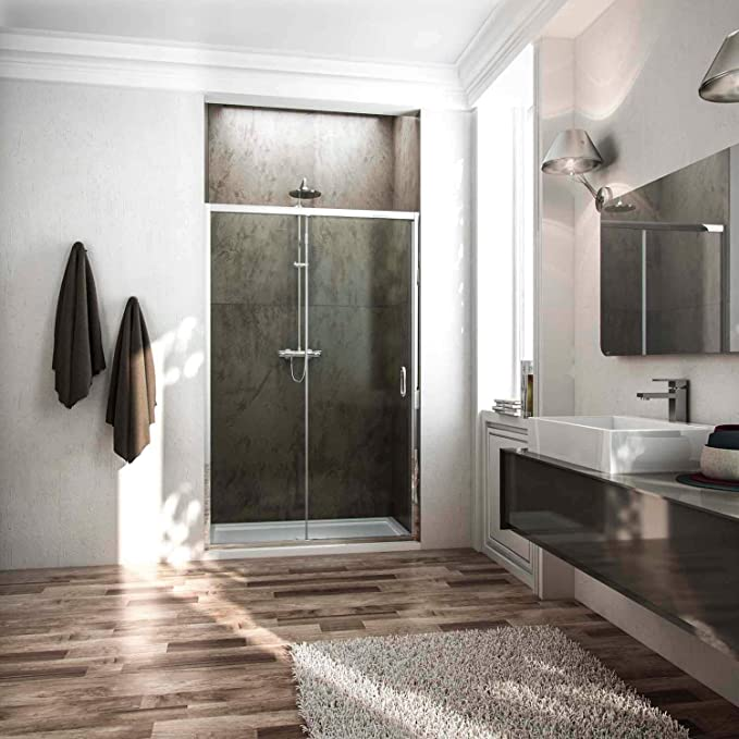 Fosterberg, Kolding - Puerta para ducha con 1 puerta corredera de ...