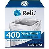 Reli. 2-4 Gallon Trash Bags (400 Count) Small Clear Garbage Bags (2 Gallon - 3 Gallon - 4 Gallon Garbage Bags), 2 Gal…