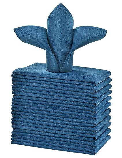 4ab97fa4564c Amazon.com: cieltown Polyester Cloth Napkins 1-Dozen (17 x 17-Inch ...