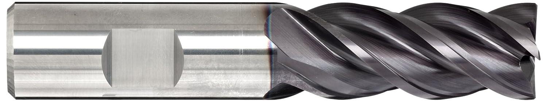 Finishing Cut Guhring 3078 RF 100 F Carbide Square Nose End Mill 4 Flutes 0.375 Shank Diameter 40 Deg Helix 2.5 Overall Length Vibration Resistant TiAlN//TiN Multilayer Finish 0.375 Cutting Diameter