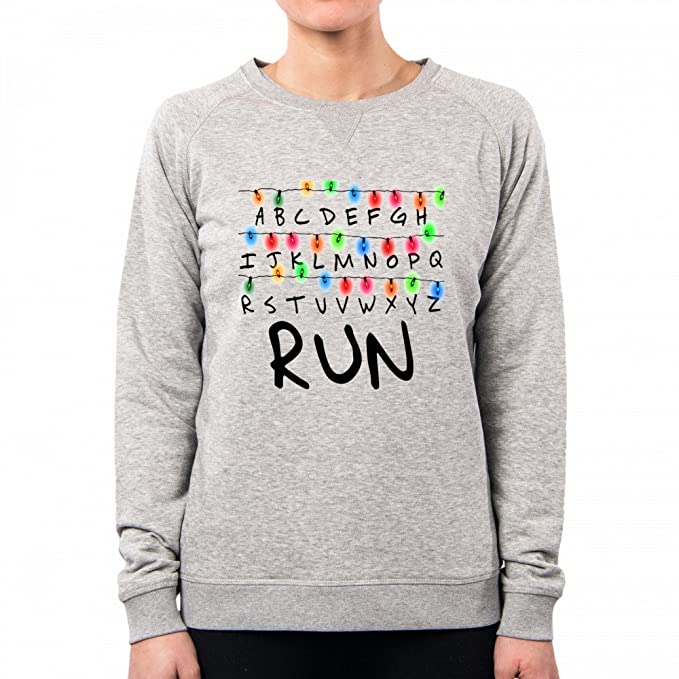 PacDesign Sudadera Mujer Stranger Things Serie TV Show Series Et Anni 80 80s Pd0006a, S, Lightgrey: Amazon.es: Ropa y accesorios