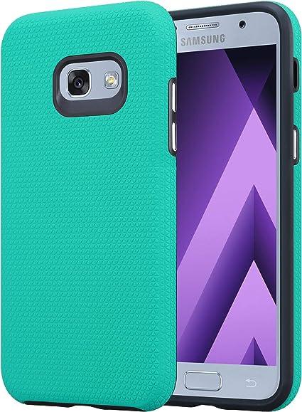 Cadorabo Coque pour Samsung Galaxy A3 2017 en Turquoise LIS - Outdoor Housse Protection en Design Triangle avec Poignée Antidérapante en Silicone TPU ...