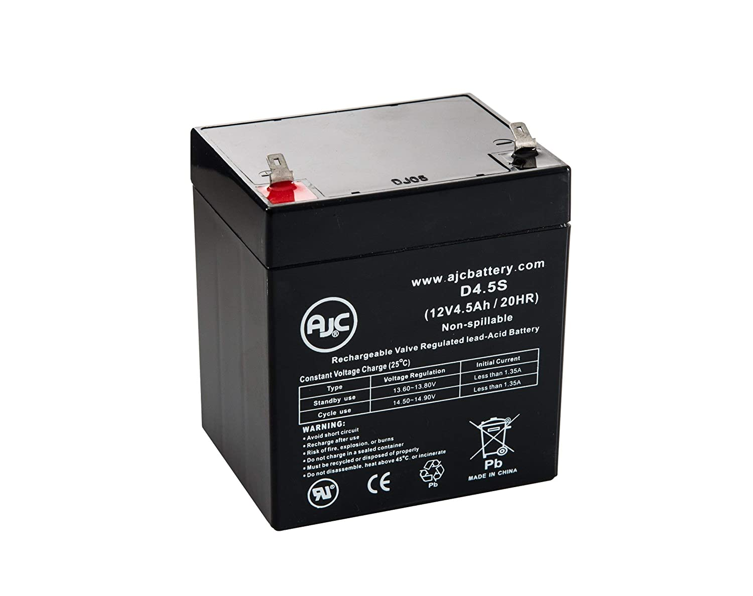 Securitron 12V 4.5Ah 12V 4.5Ah Alarm Battery - This is an AJC Brand Replacement AJC Battery 12V 4Ah