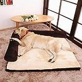 Sofá cama rectangular con cojín deluxe para gatos y perros de todos los tamaños, de
