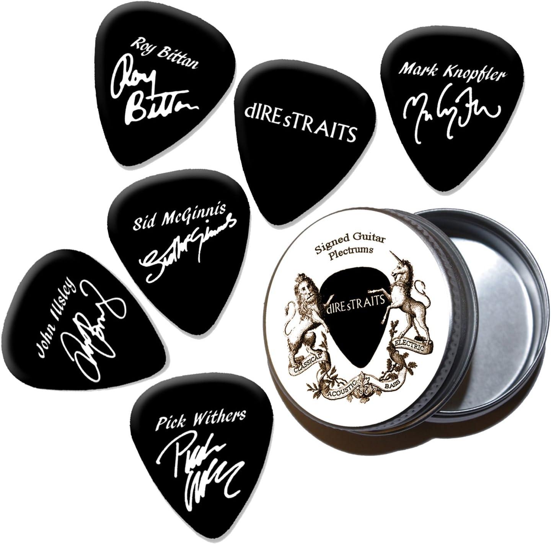 Dire Straits Mark Knopfler Black Púas de guitarra con estaño Tin ...