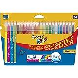 BIC Kids Kid Couleur Feutres de Coloriage - Etui Carton de 20+4