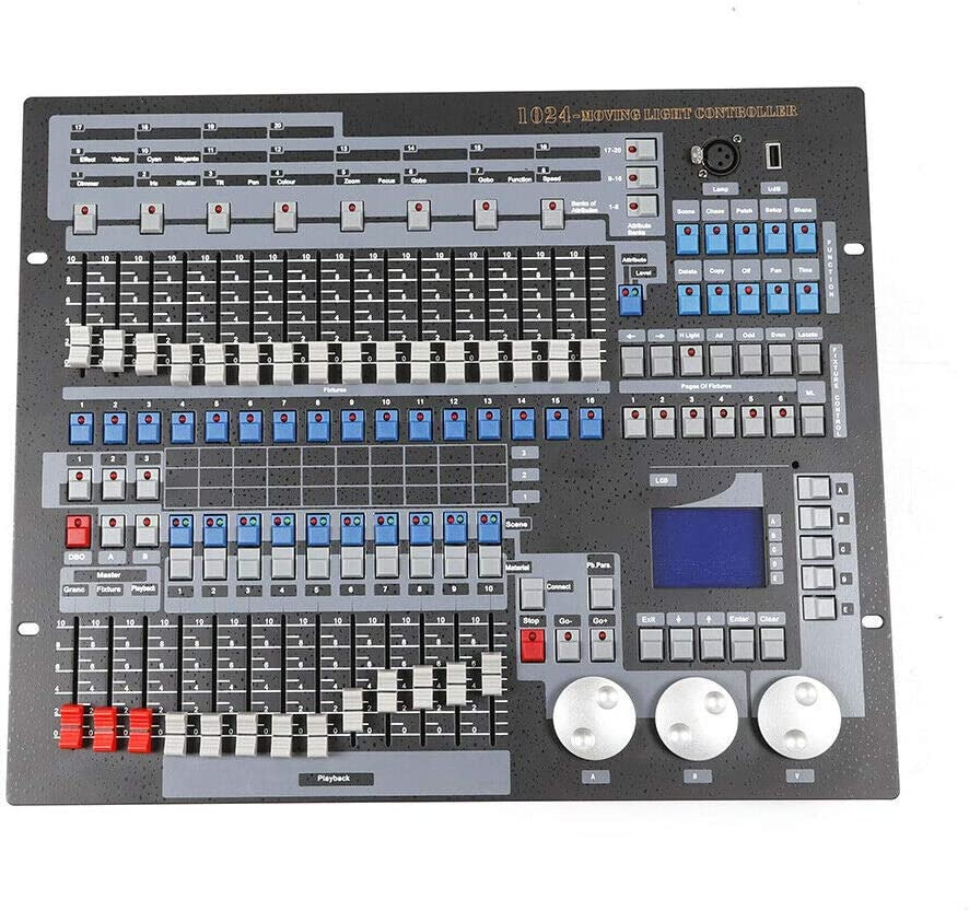 Equipement DJ de F/ête Console de Contr/ôleur de Lumi/ère LED Disco DMX512 pour Discoth/èque DJ Console d/éclairage de Sc/ène Contr/ôleur DMX 1024 Canaux