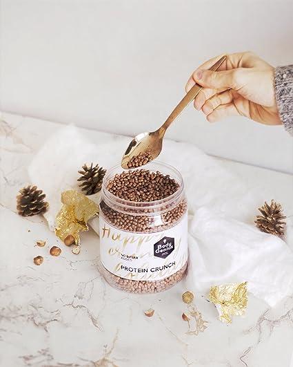 Body Genius PROTEIN CRUNCH (ChocoAvellana). Bolitas de Proteína Recubiertas de Chocolate Sin Azúcar. 500 gr