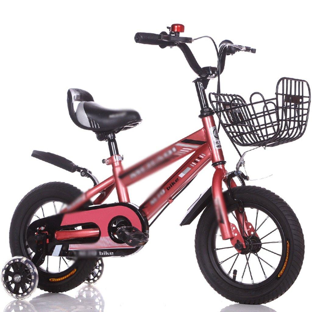 DUWEN Mountain Bike per Bambini 16 14 12 Pollici 2-3-5-6 Anni Ragazzi e Ragazze Mountain rosso Upgrade (Dimensioni   12 inch)