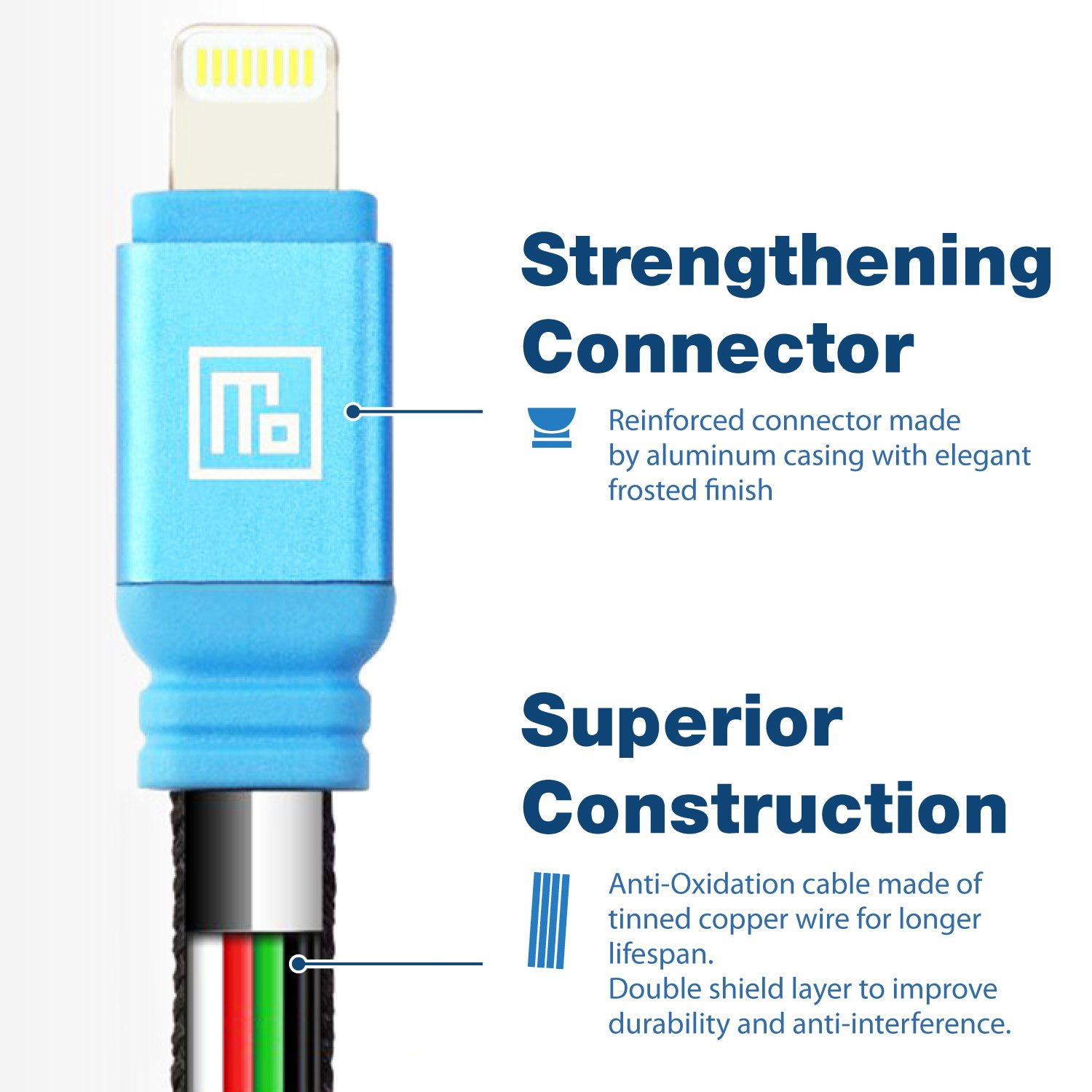 2 Pack Mfi Certified Industrial Grade Lightning To Usb Wiring Money Bmo Cable For Fast Charging And Data Syncing Gold Computers Accessories