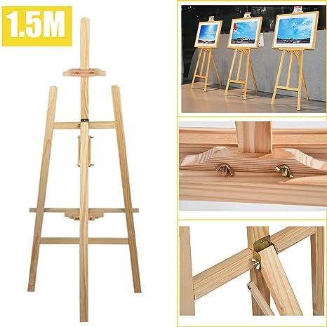 1.5 m/149,9 cm studio cavalletto in legno pieghevole a-frame pine ...