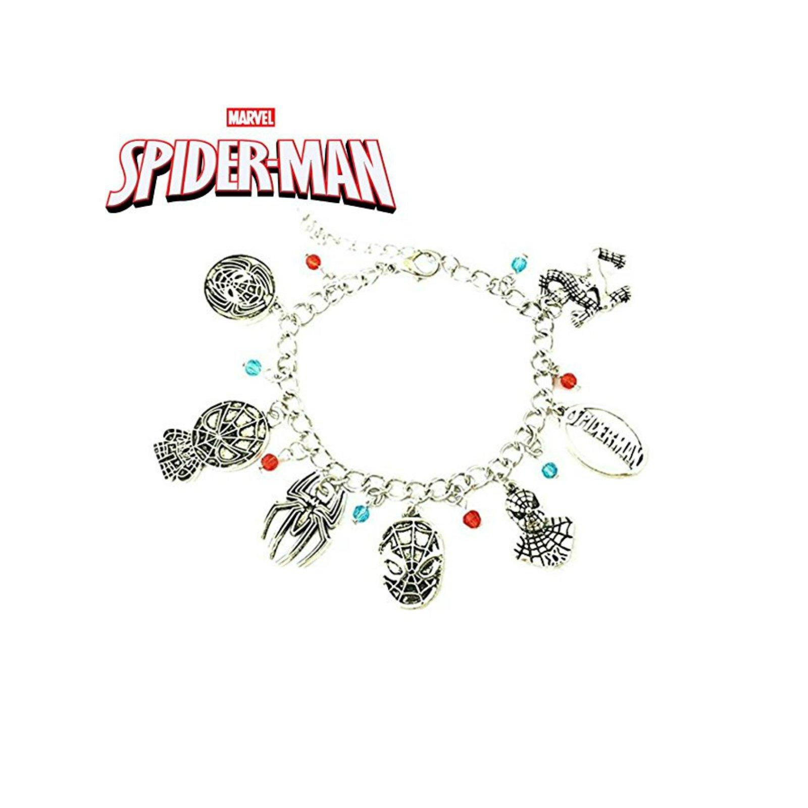 Athena Brand Movie Comics Marvel Spider-Man Charm Bracelet In Gift Box