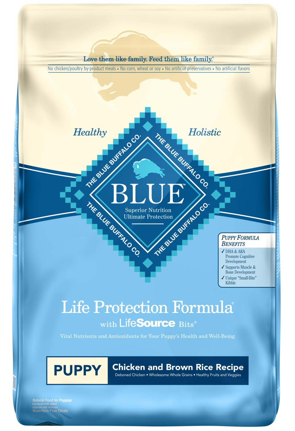 Blue Buffalo Life Protection Formula Puppy Dog Food - Natural Dry Dog Food for Puppies - Chicken and Brown Rice - 30 lb. Bag by Blue Buffalo