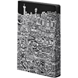 "Nuuna Graphic L ""Paris"" Smooth Bonded Leather Notebook - Black"