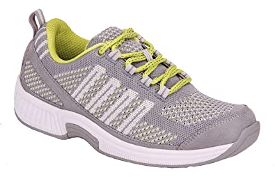 46bfc5e9444 Orthofeet Women s Plantar Fasciitis Orthopedic Diabetic Walking Athletic  Shoes Coral Sneakers Gray