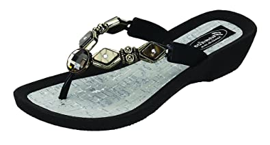 d60e2b022bb90 Grandco Women s Color Diamond Pearl Thong Sandal (9 M US