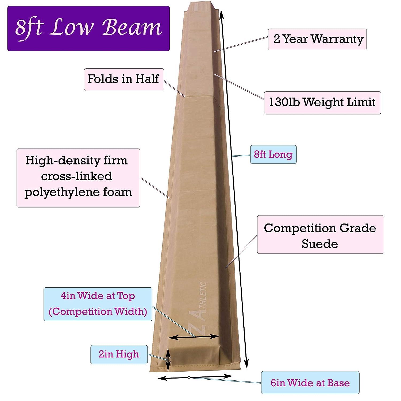Tumbling Multiple Sizes and Styles Z-Athletic Gymnastics Folding Training Low Beam for Gymnastics
