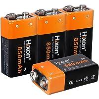 Akku Wiederaufladbarer Li-Ion 9V 850mAh für Rauchmelder Multimeter Alarmsystem