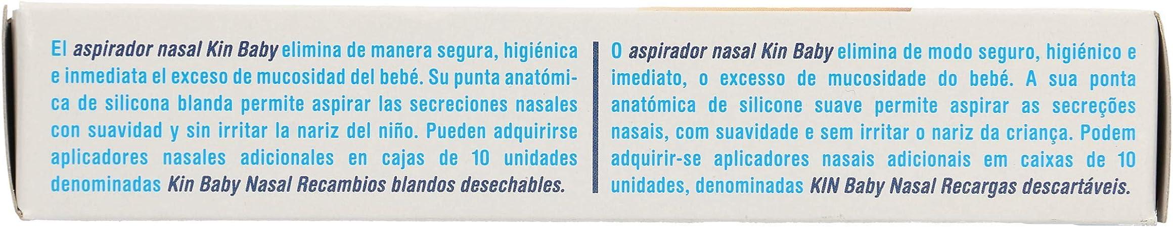 KIN Baby nasal aspirador nasal caja 1 ud: Amazon.es: Salud y ...