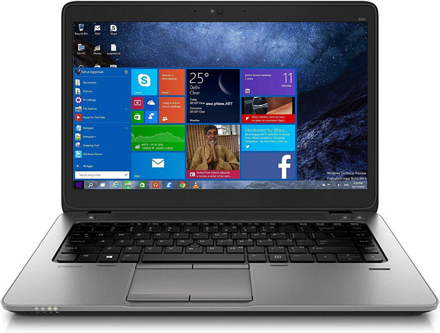 Used Like New Laptops 840 G2 14inch core i3 5010 8GB RAM 500GB HDD - Business Laptop with Windows