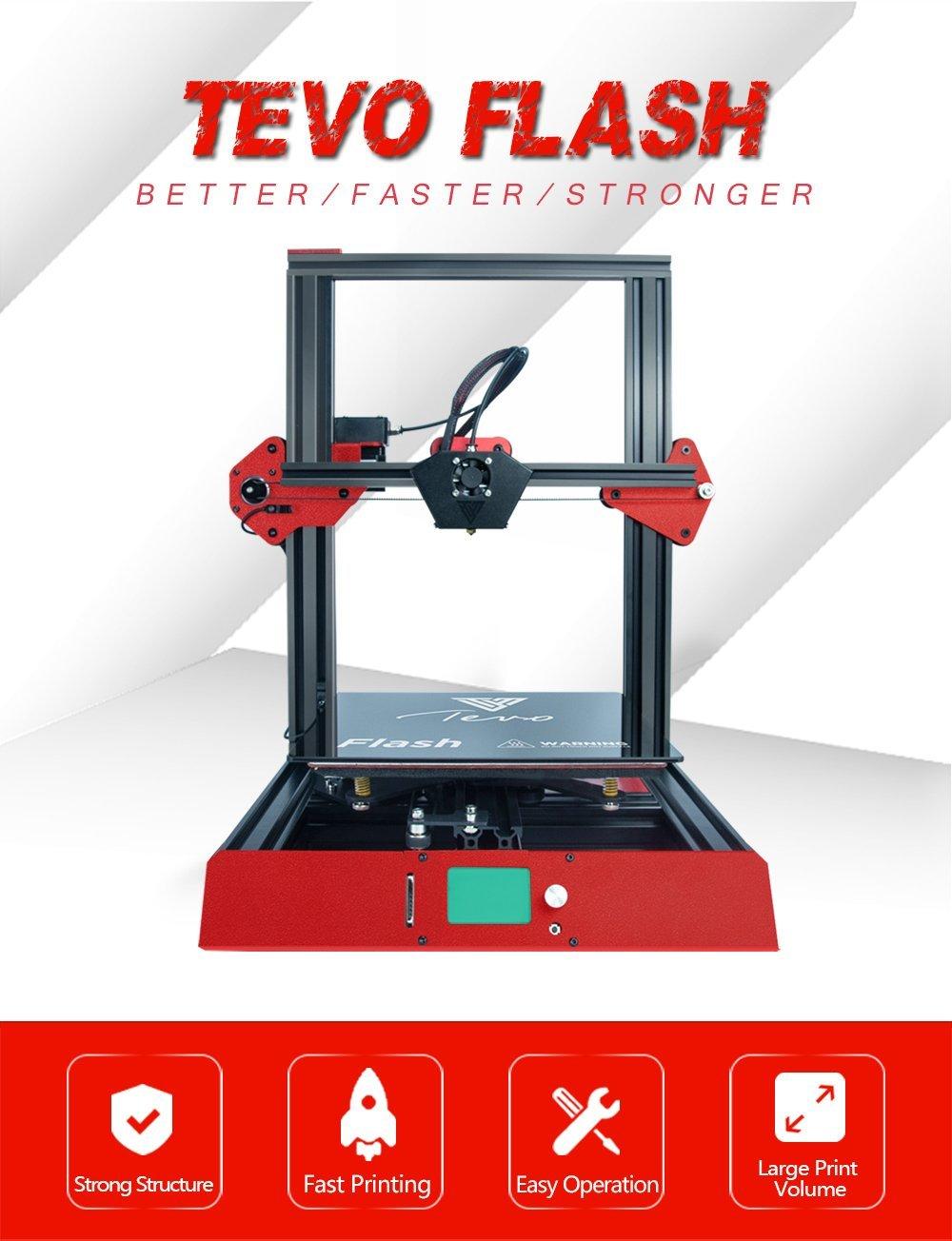 Amazon.com: TEVO Flash Standard DIY Kits 50% Prebuild 3D ...