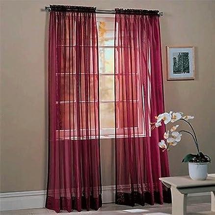 kasit - tenda per porta/finestra in tulle, trasparente, 1 pezzo ... - Soggiorno Camera Da Letto