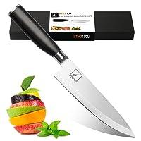Couteau de cuisine, Imarku professionnelle carbone inoxydable bord avec lame de précision et avec poignée ergonomique Couteau