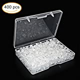 400pcs Earring Backs, Premium Clutch Safety Earring Pad, Clear Bullet Stopper Replacement Jewelry Findings Stored in a Small Storage Box