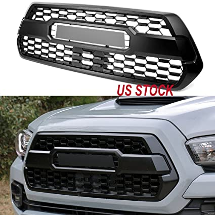 Front Bumper Hood Upgrade TRD Pro Style Grille Fit For Tacoma Grill 2016 2017 18