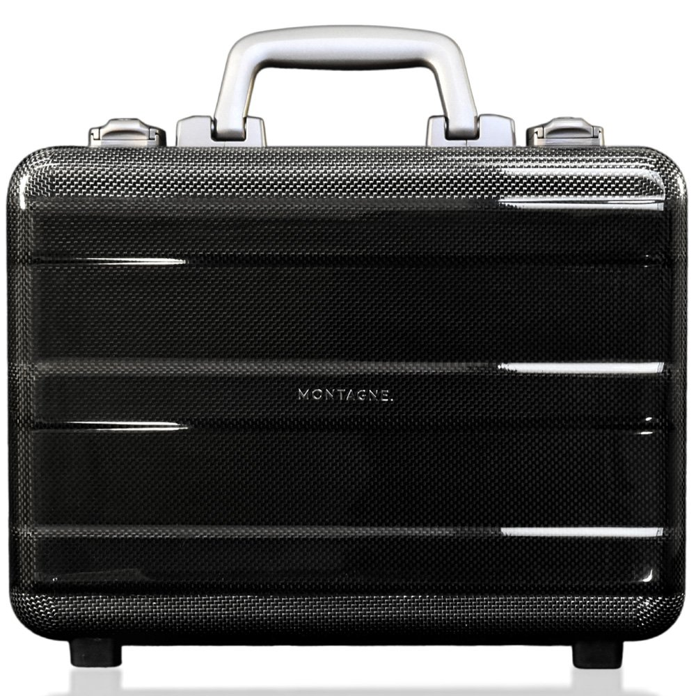 26a76ff532 カーボン製 軽量アタッシュケース スーツケース ビジネスバッグ ハードケース TSAロック 機内持込可 【軽量1.35kg】 B01MZIKYE7  シルバー シルバー -スーツケース