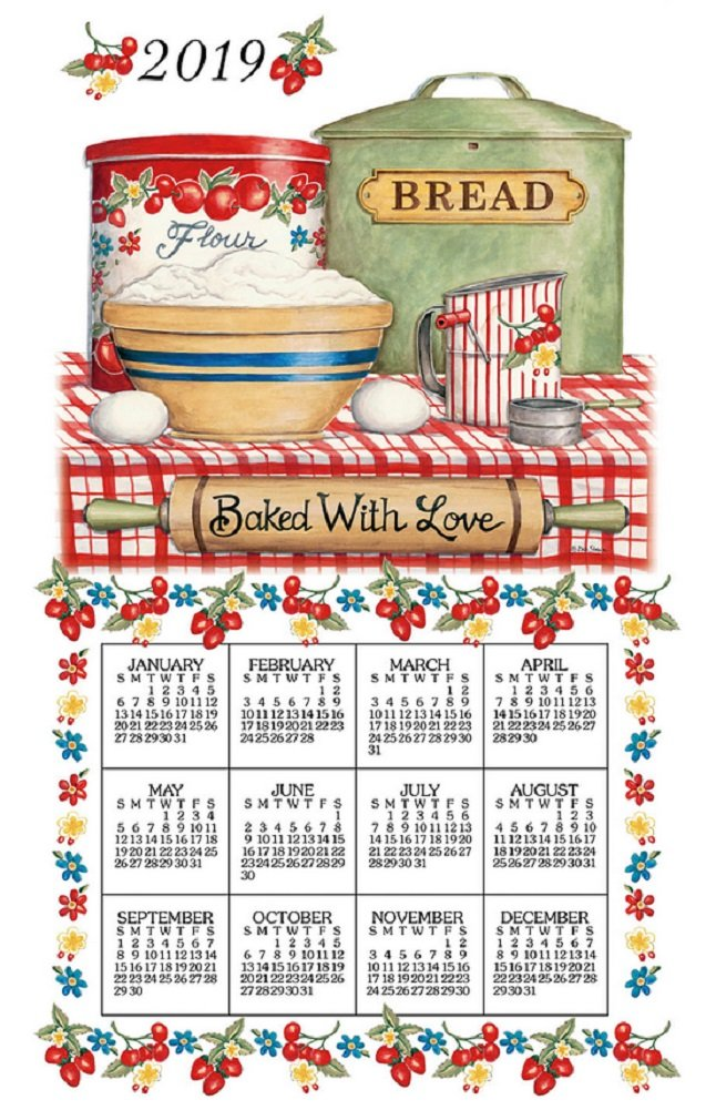 2019 Baked with Love Calendar Towel - Kay Dee