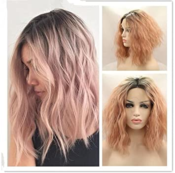 Amazon Com Atozwig 2017 New Fashion Pastel Pink Ombre Lace Wigs