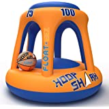 FLOAT-EEZ Hoop Shark Swimming Pool Basketball Hoop Set - 2020 Edition - Inflatable Hoop with Ball Included - Perfect for…