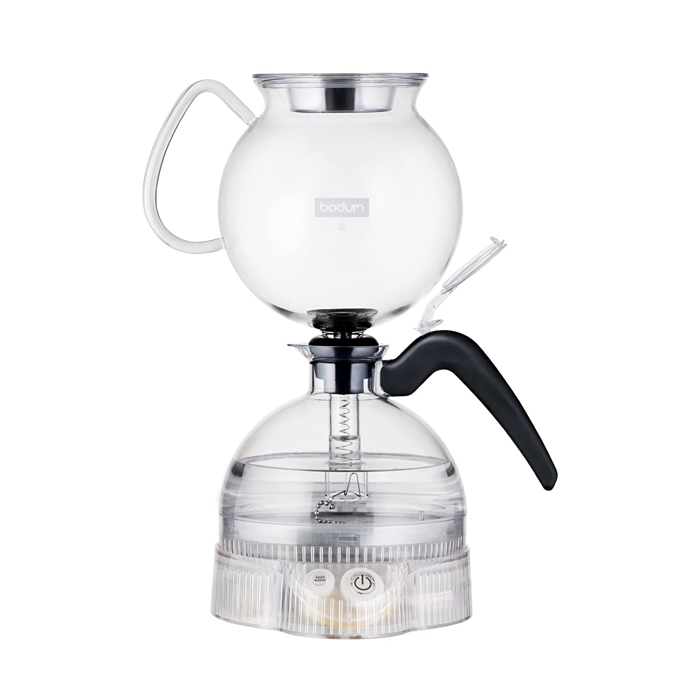 Bodum ePEBO Electric Vacuum Coffee Maker, 1.0 L - Clear 11744-01UK