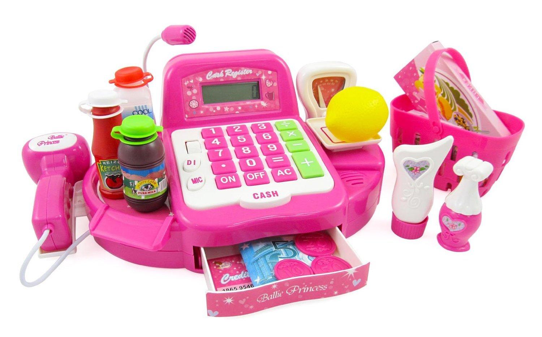 12'' Pink Supermarket Cash Register