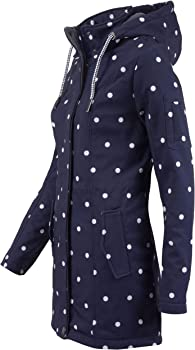 ODYSSEE Damen Softshell Mantel gepunktet Parka Jacke Kapuze Outdoor Übergang