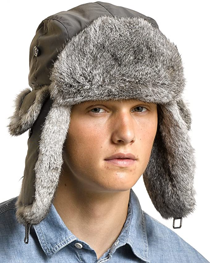 7b91a5e61a0 frr B-52 Aviator Hat with Rabbit Fur at Amazon Men s Clothing store