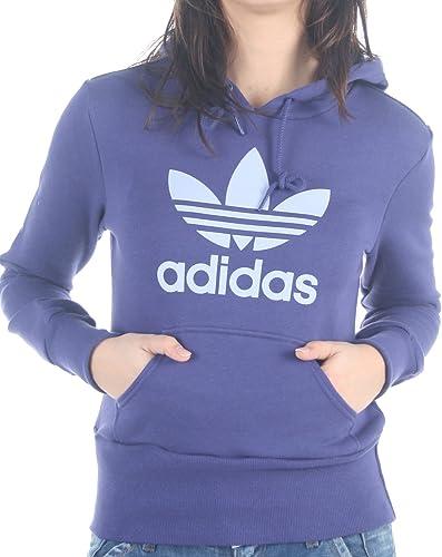 Sudadera Adidas Trefoil Hood Violeta Mujer: Amazon.es ...