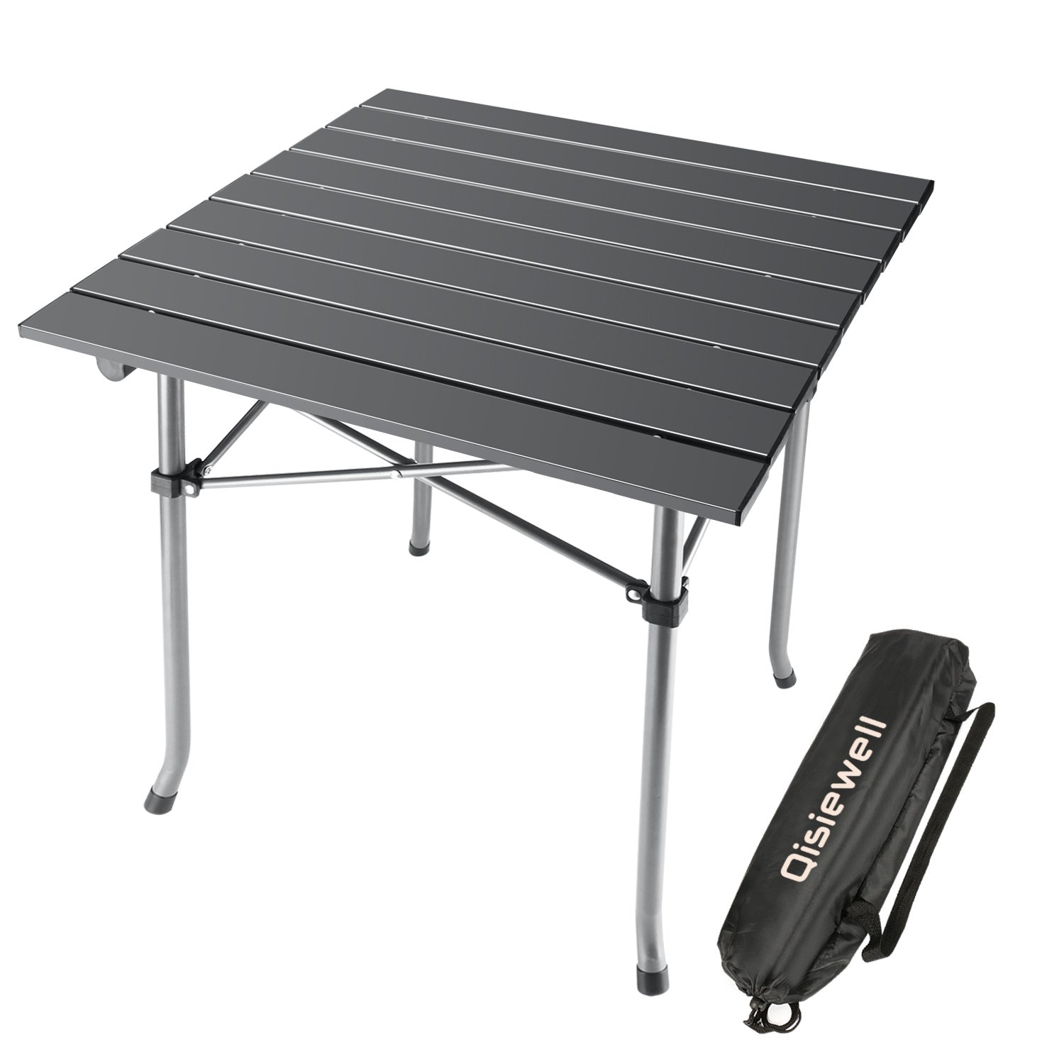 Qisiewell table de camping plage pliante en aluminium pique nique portable ebay - Table picnic pliante decathlon ...
