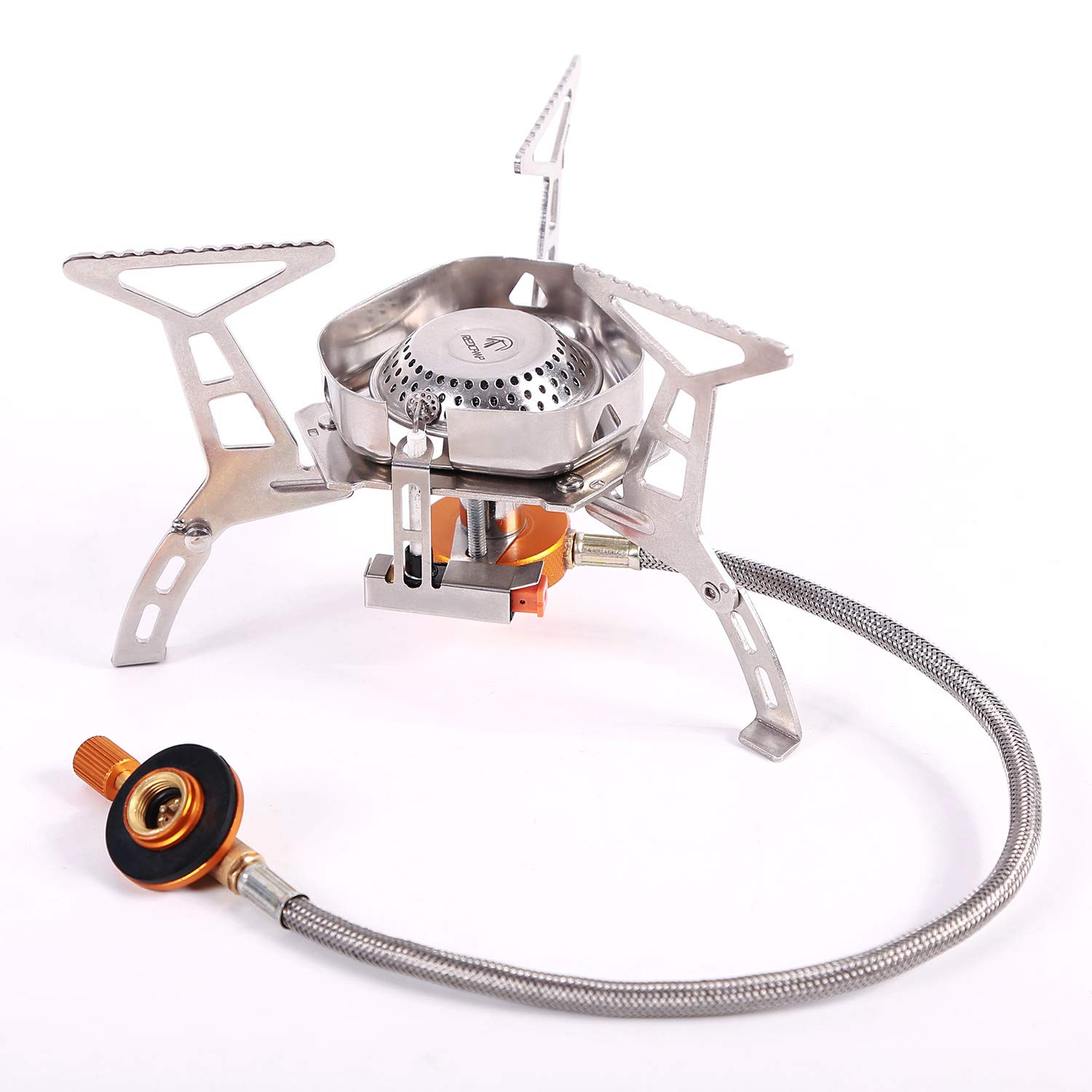 REDCAMP Windproof Portable Backpacking Stove with Piezo Ignition, 3500W Strong Firepower Lightweight Outdoor Camping Stove Propane Butane by REDCAMP