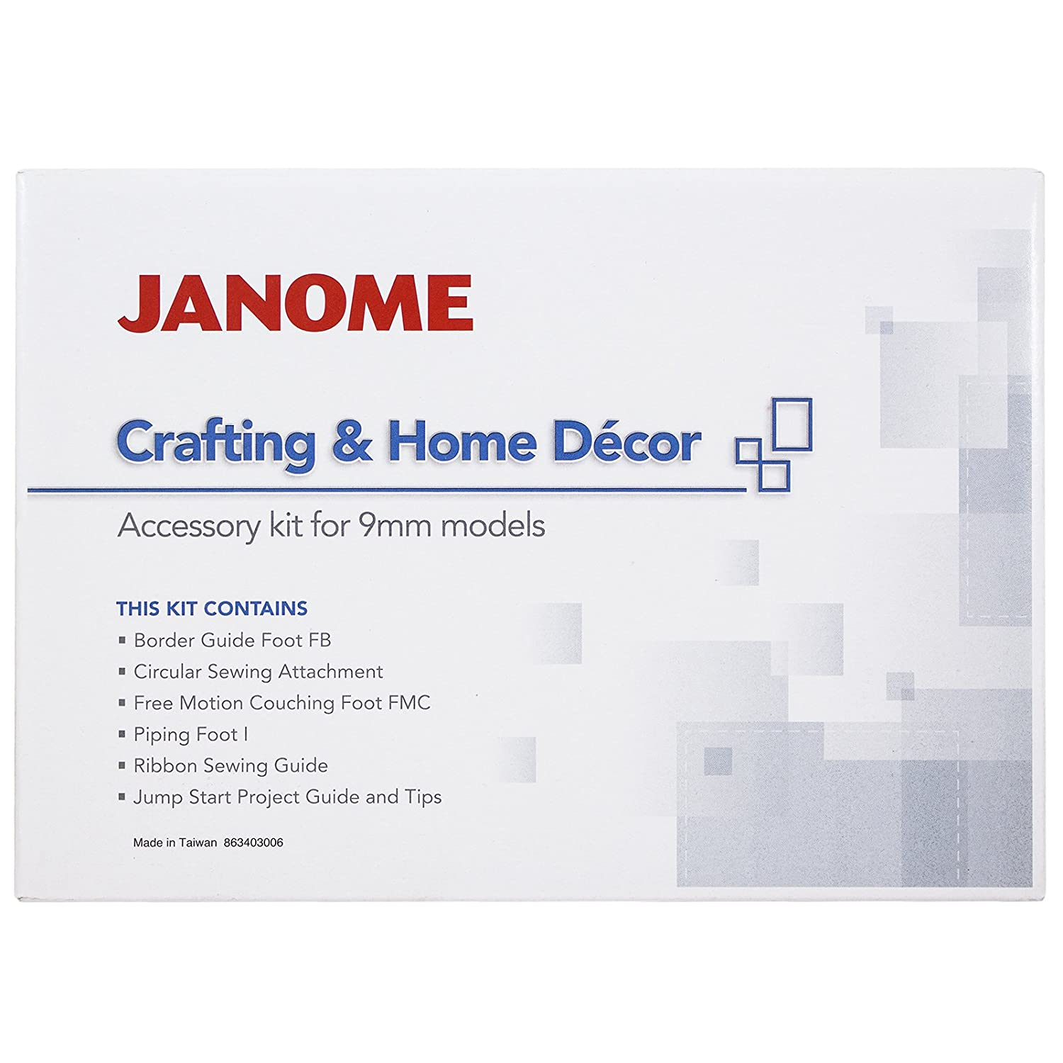 Janome Crafting & Decor Accessory Kit for 9mm machines by Janome   B00UB4I96M