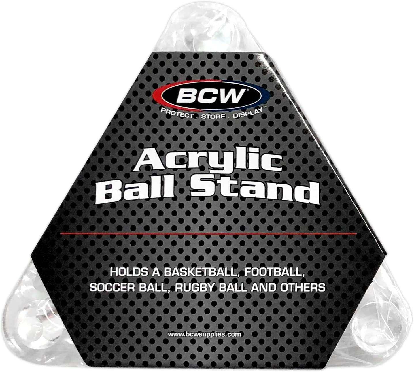2-Pack Volleyball or Soccer Ball Hold Football BCW Deluxe Acrylic Ball Stand Display Stand or Holder Basketball