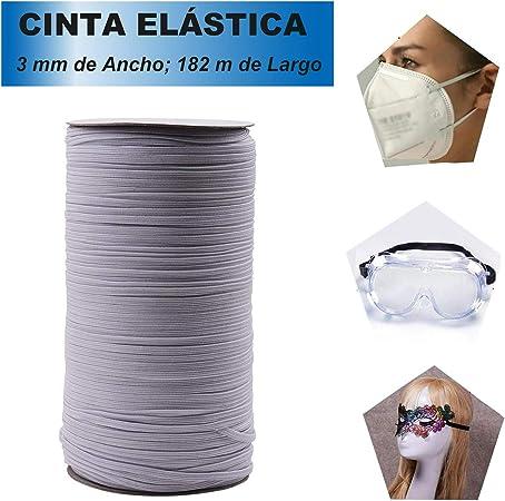Cordón Goma Elástico Cinta Elástica 3 mm de Ancho 182 m de Largo ...