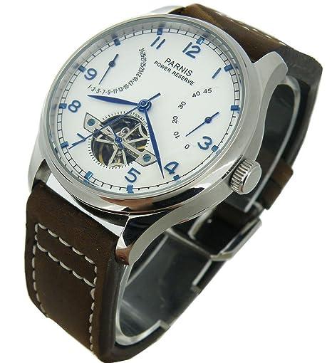 CursOnline® Elegante Reloj Clásico Hombre, Gran Calidad del famoso brand PARNIS Original PN809 con