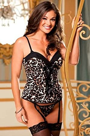 aec85fce6da Shirley of Hollywood Wild Wild Hollywood Corset and Bra Set (25993)  32 Animal