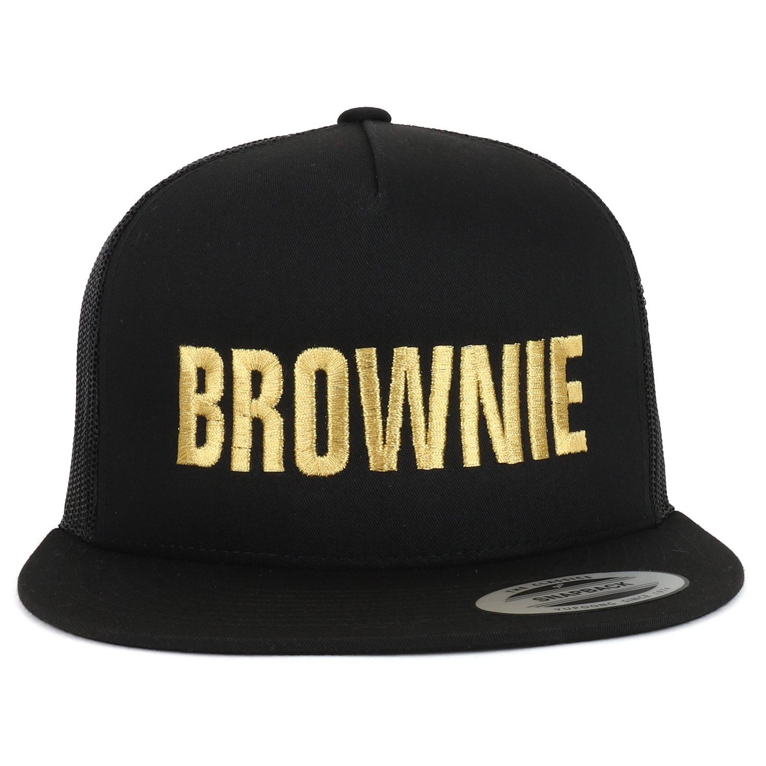 9bb14a4a Trendy Apparel Shop Blondie and Brownie Gold Embroidered 5 Panel ...